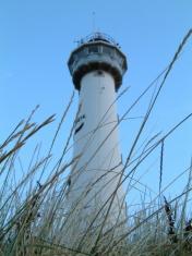 beautiful blue lighthouse