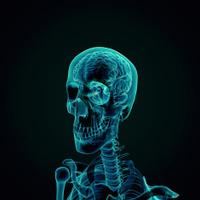 Human Brain X-ray style