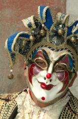 Costumed man in Venice