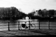 Push bike on a bridge in Amsterdam
