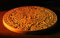 Close up of Mayan calendar.