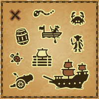 Treasure Map Icons