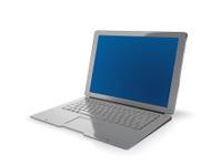 Modern new laptop