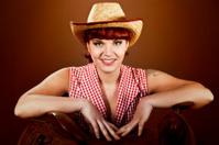 Tattoed cowgirl