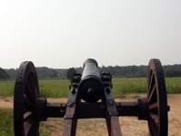 Cannon Aimed at the Battlefield