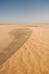 Sandy dune in desert