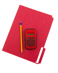 Colorful Folder and Calculator