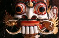 Indonesia, Bali, Ubud, traditional Barong mask.