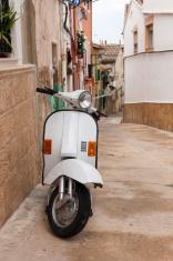 Vespa in Narrow Spanish Street