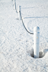 Winter Fence Posts