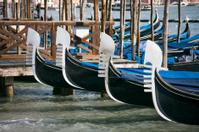 Gondola prows in Venice