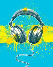 Microphone Grunge Design