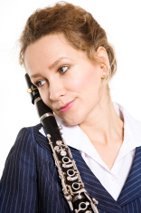 female clarinet player