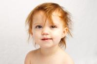 Child Crazy Hair White Background