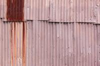 Corrugated iron frame background