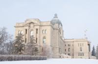Saskatchewan Legislative Building in Regina during winter