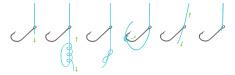 knot tying hooks,