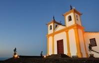 Colonial style church in Brazil (Serra da Piedade)