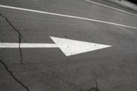 road mark and crack