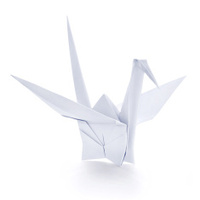 Origami paper crane