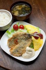 Japanese Cuisine Aji-furai ( アジフライ, Deep-fried horse mackerel )