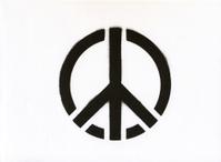 Peace symbol graffiti