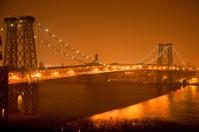 Brooklyn bridge in NYC by night
