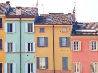 Colorful old houses