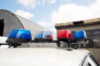 Police squad car emergency lights