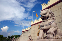 Temple Lion statues