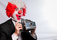 Instant camera clown