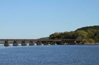 Old Train Bridge over Lake