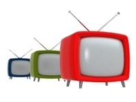 Old TVs . 3D