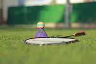 set for badminton