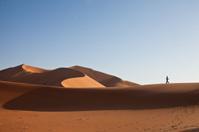 Walking in the sand dunes