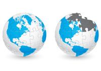 Jigsaw Puzzle Globe America