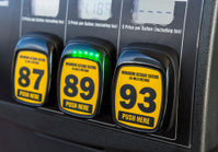 Gas pump octane selector