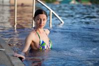 girl in swimming pool