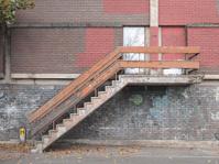 Old industrial stair