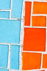 orange and blue tiles
