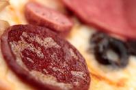 Macro shot of Pepperoni