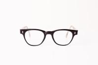 Color Image of Vintage Black Eyeglasses, Isolated on White
