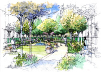 Landscape garden sketch series 14