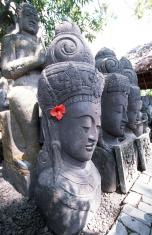 Indonesia, Bali, stone statues.