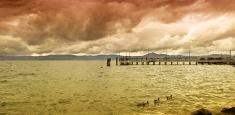 Bracciano  lake Italy