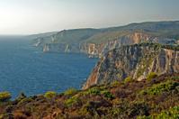 coast with cliff in Zakynthos island