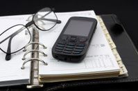 Personal diary and mobile phone