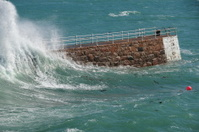 St.Brelade harbour breakwater, Jersey.