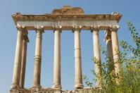 Ruins of Temple of Saturn in Roman Forum (Forum Romanum)