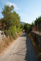 Camino hacia el Castillo de Alaró, Mallorca, Islas Baleares